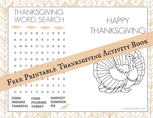 graphic about Printable Activity Books known as Do it yourself Thanksgiving Video game E-book - U Crank out