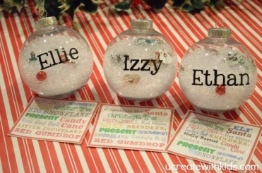 Personalized I Spy Ornaments by U Create