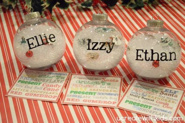 Personalized I Spy Ornaments By U Create