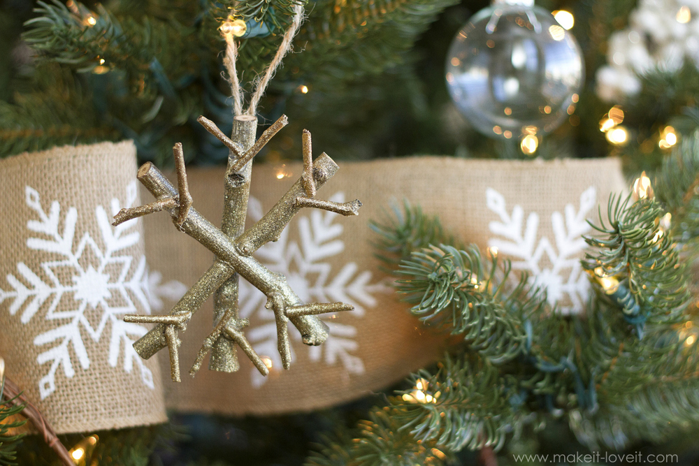 How to Make a Twig Snowflake Ornament by Make It and Love It