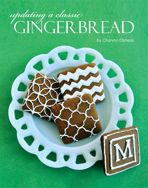 Modern Gingerbread Cookies at The Party Dress