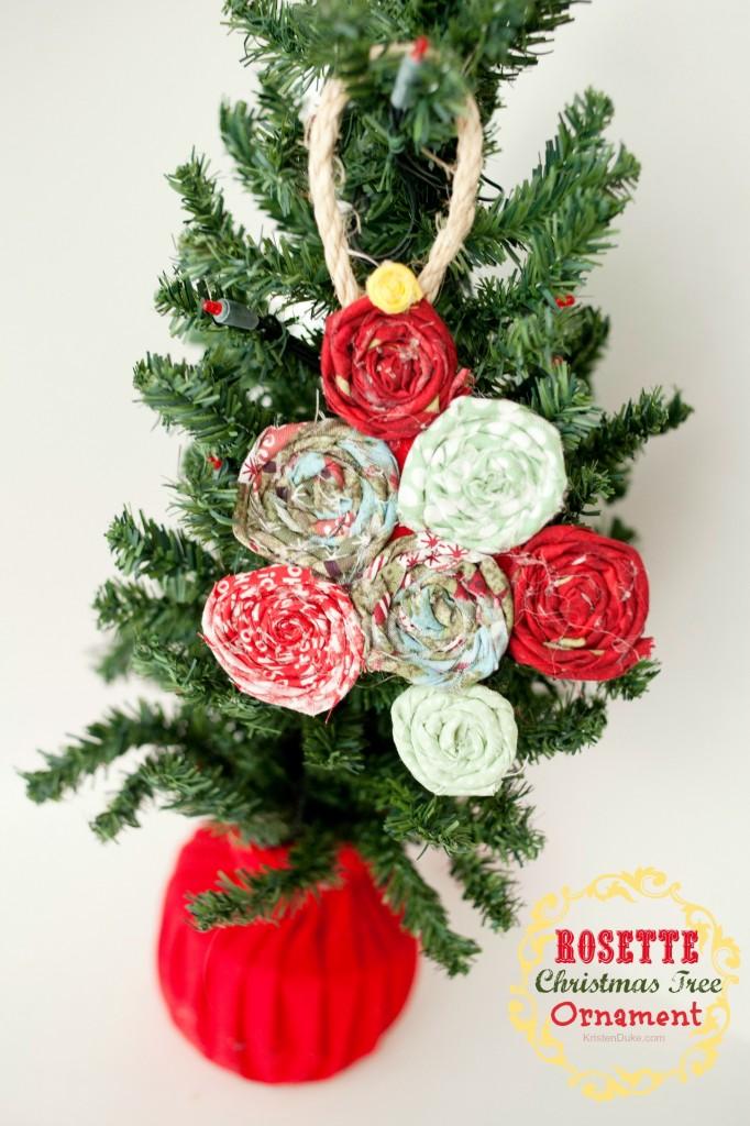Rosette Christmas Tree Ornament by Kristen Duke