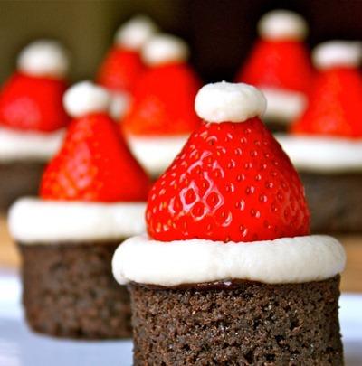 Santa Hat Brownies at Daisy's World