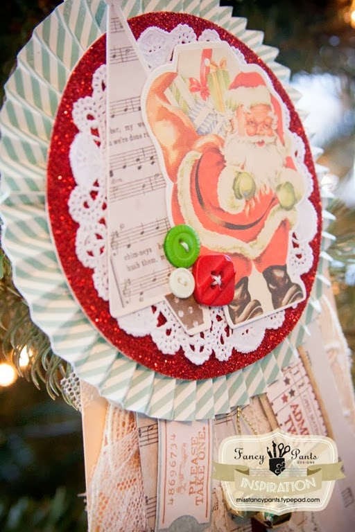 Santa Award Ornament Tutorial by Fancy Pants Designs