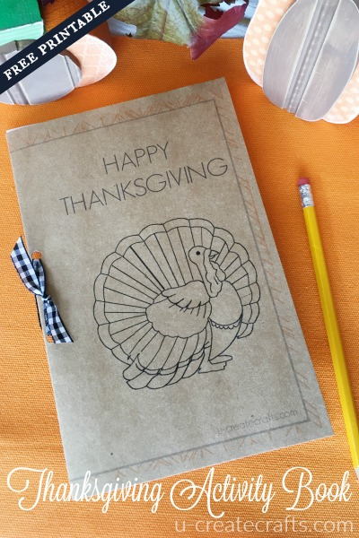 Thanksgiving Activity Book at u-createcrafts.com