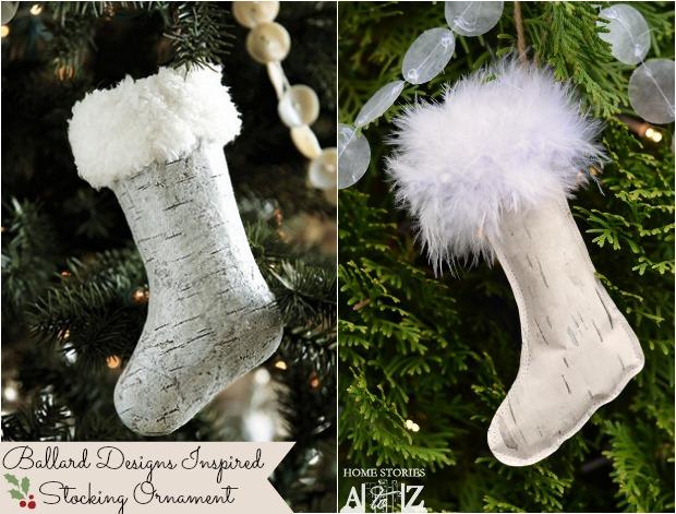 ballard designs inspired stocking ornament