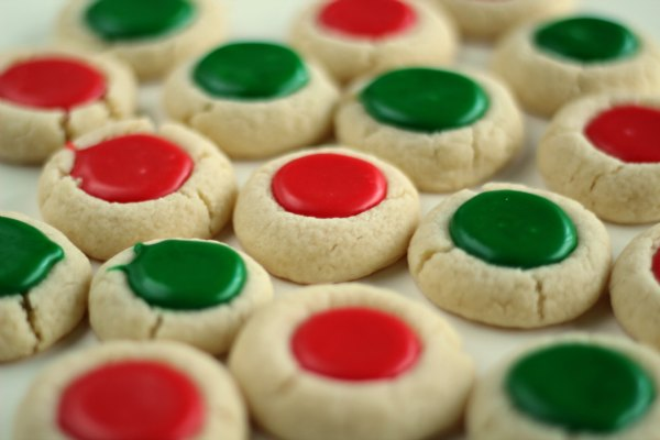 Christmas Thumbprint Cookies by Lil Luna