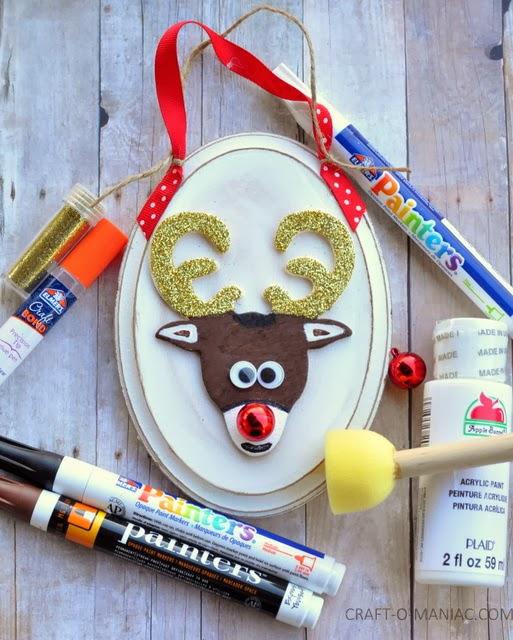 DIY Rudolph Ornament by Craft-O-Maniac