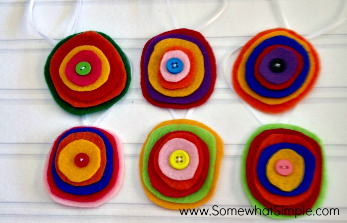 Felt Circle Ornaments by Somewhat Simple