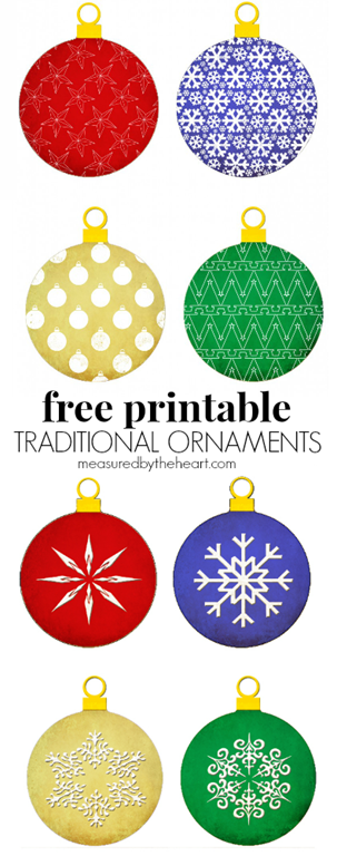 Free Printable Christmas Ornaments - U Create
