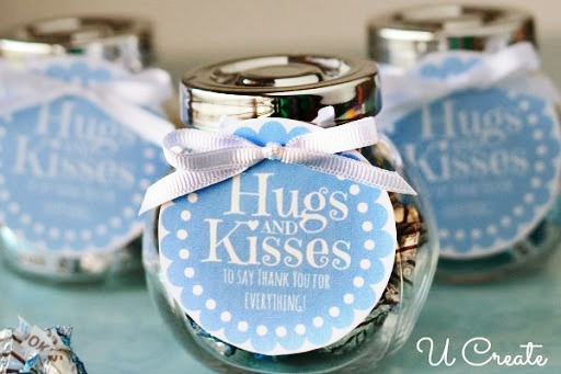 Hugs And Kisses Thank You Jar With A Free Printable Tag