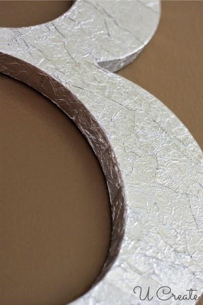 Metallic Monogram Tutorial