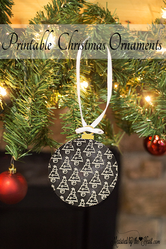 24 Free Printable Christmas Ornaments by Measured by the Heart