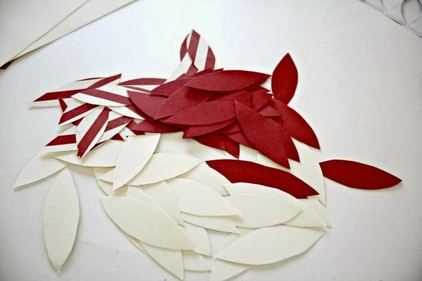 Paper Poinsettia Ornaments by Thrifty Decor Chick