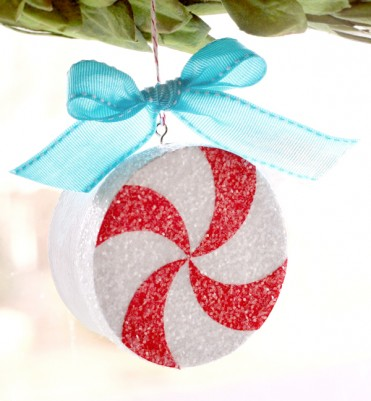 Peppermint Ornament with Photo Inside Tutorial by Lisa Storms