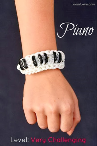 How to make a piano loom bracelet by Loom Love