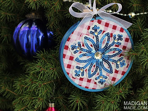 Simple Embroidery Hoop Ornament by Madigan Made