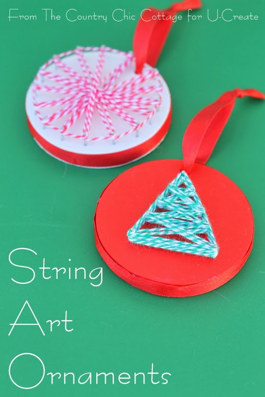 String Art Ornament Tutorial by The Country Chic Cottage