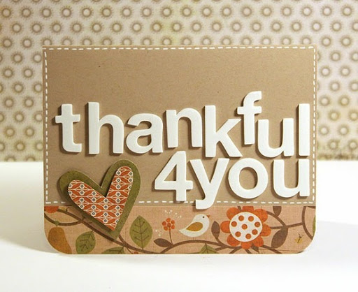 thankful 4 you card by Kwerner Designs