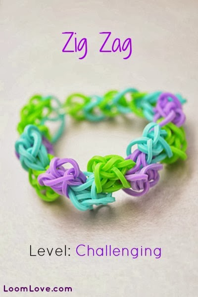 Zig Zag Loom Bracelet Tutorial by Loom Love