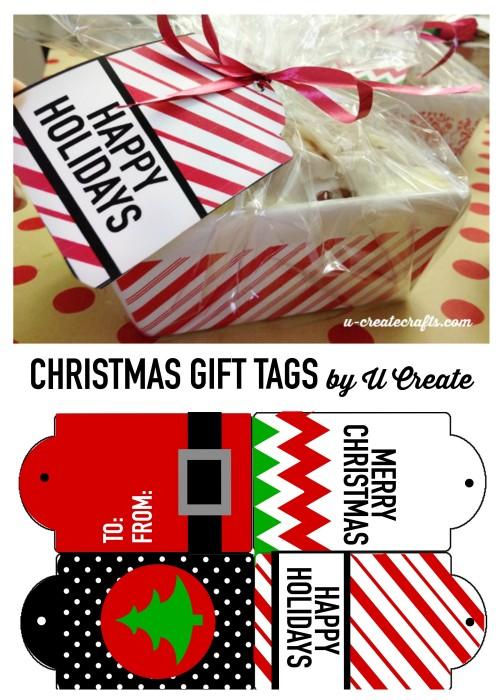 Free Printable Christmas Tags by U Create