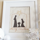 Free Stitchable: Unto Us a Child is Born Nativity Pattern by U Create
