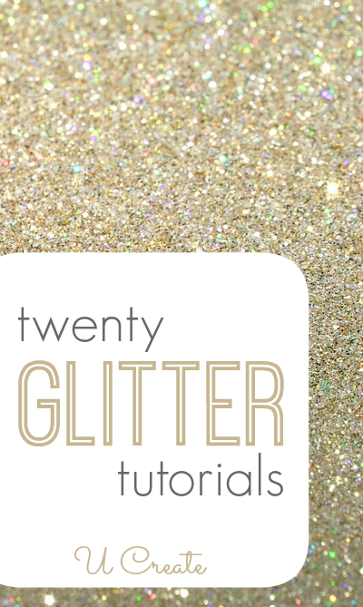 Many ways to create with GLITTER! Gorgeous.