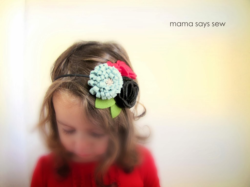 Christmas Headband Tutorial by Mama Says Sew