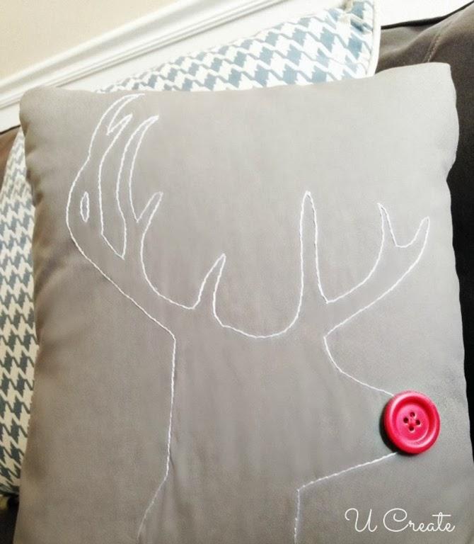 Modern Rudolph Stitching Pattern by U Create