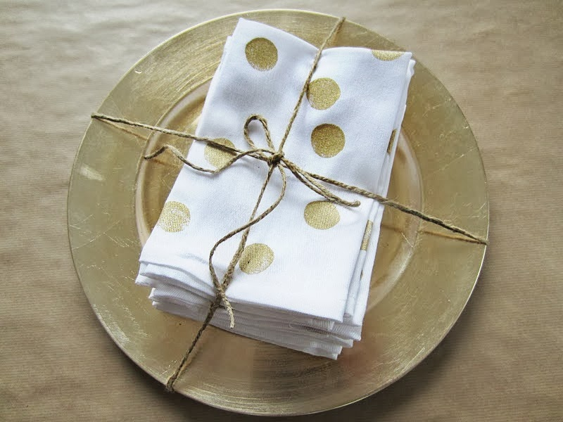glitter dot napkins