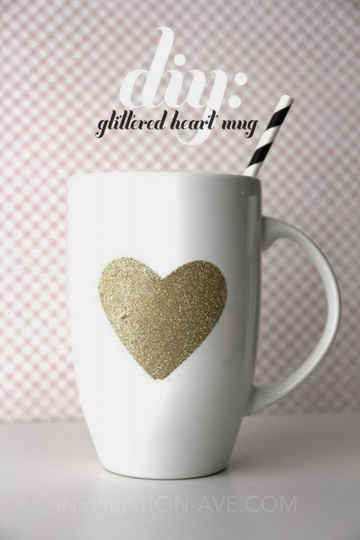DIY Glitter Mug by Inspiration Avenue