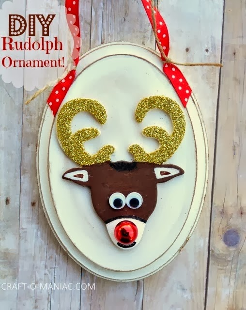 DIY Rudolph Ornament by Craftomaniac
