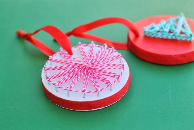 DIY String Art Ornaments by The Country Chic Cottage