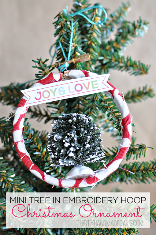 Embroidery Hoop Christmas Ornament Tutorial by Thirty Handmade Days