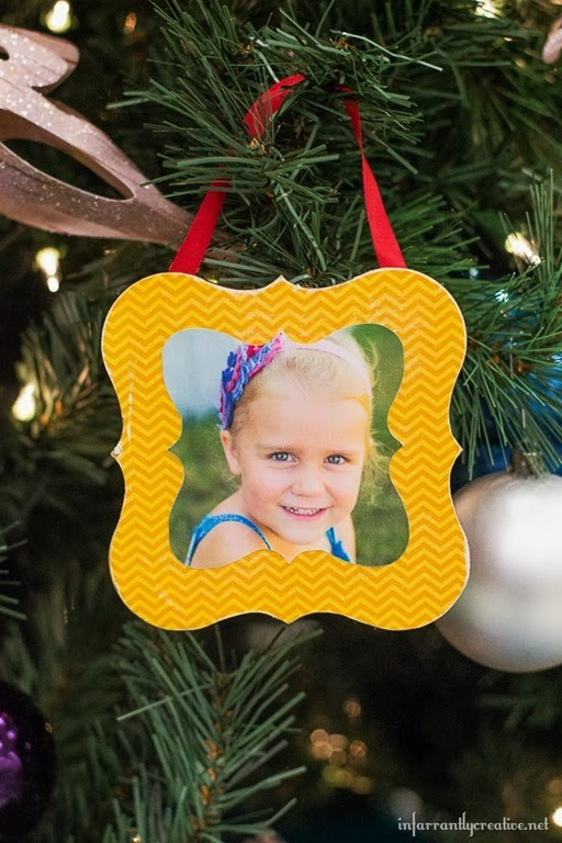 Photo Ornament Tutorial by Infarrantly Creative