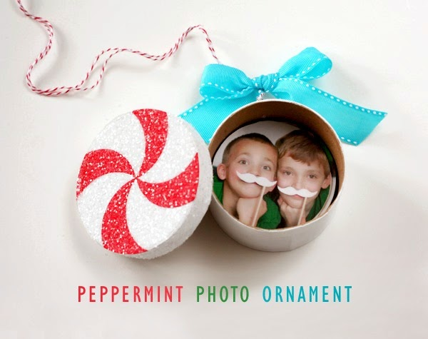 Peppermint Photo Ornament by Lisa Storms