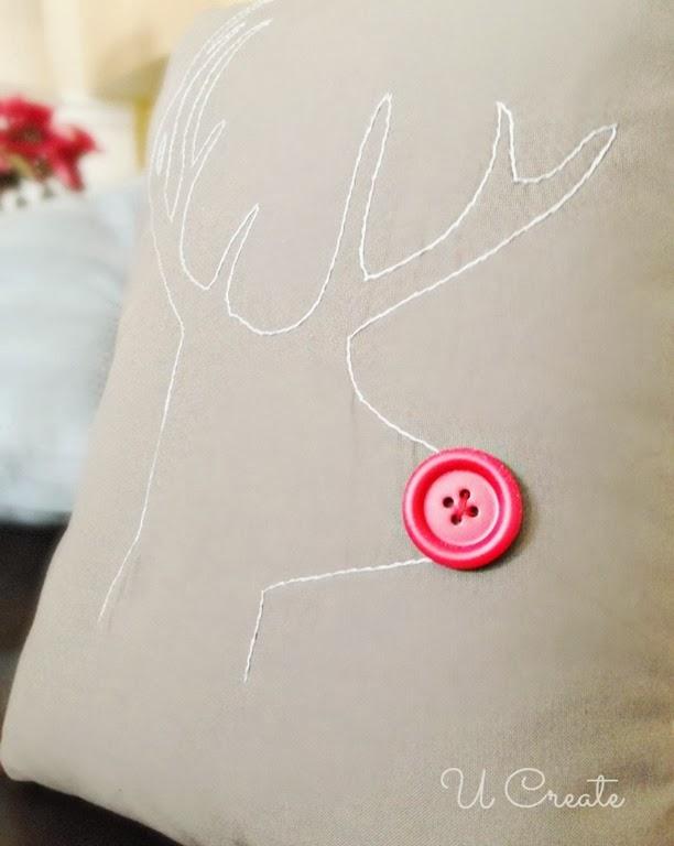Rudolph Reindeer Stitching Pattern by U Create
