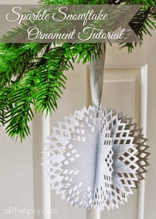 Sparkle Snowflake Ornament Tutorial by A Little Tipsy