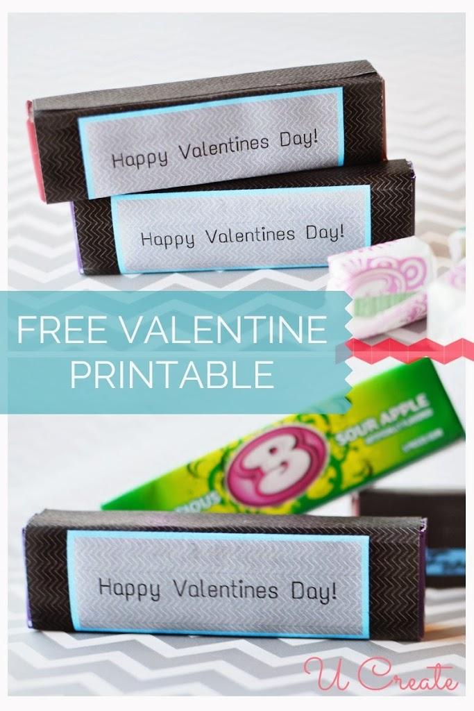 Free Printable: Valentine Gum Wrappers - U Create