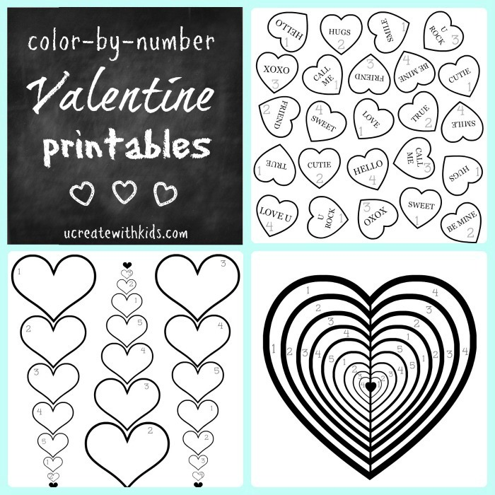 Valentine Color-by-Number Pages for the Kids!