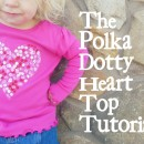 Polkadot Heart Top Tutorial