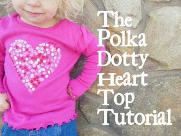 Polkadot Heart Top Tutorial