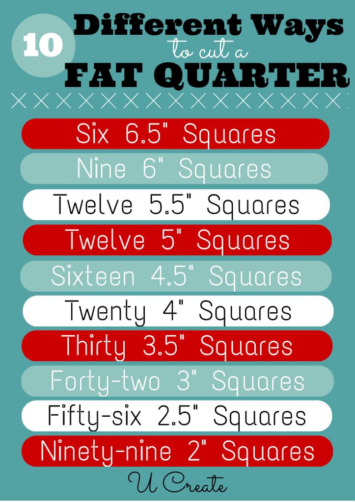 10 ways to cut a fat quarter at U Create