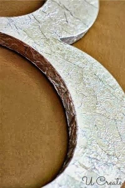 Tin Foil + Mod Podge = awesome metallic technique!!