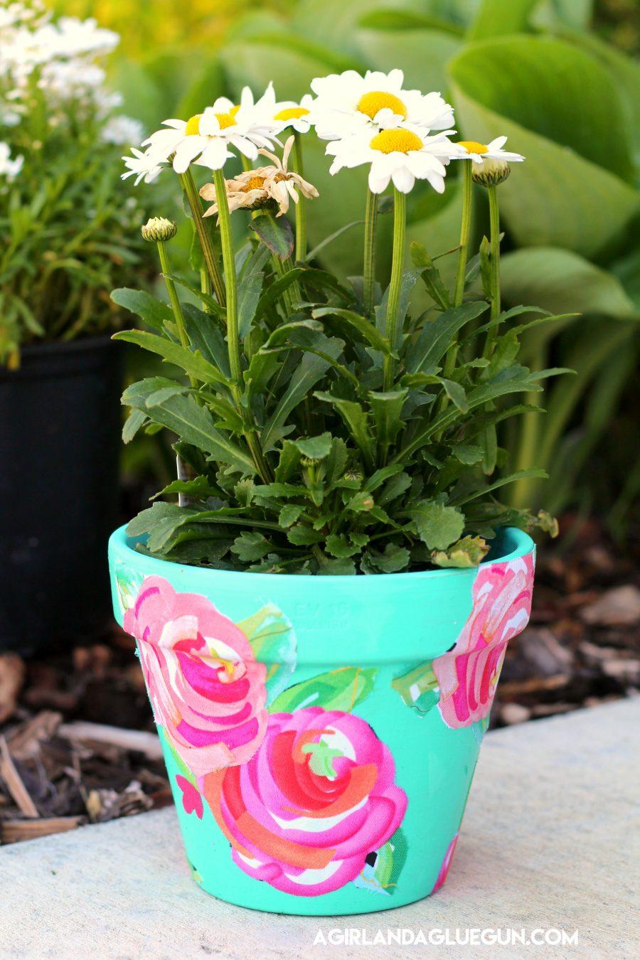 Mod Podge Flower Pot Tutorial