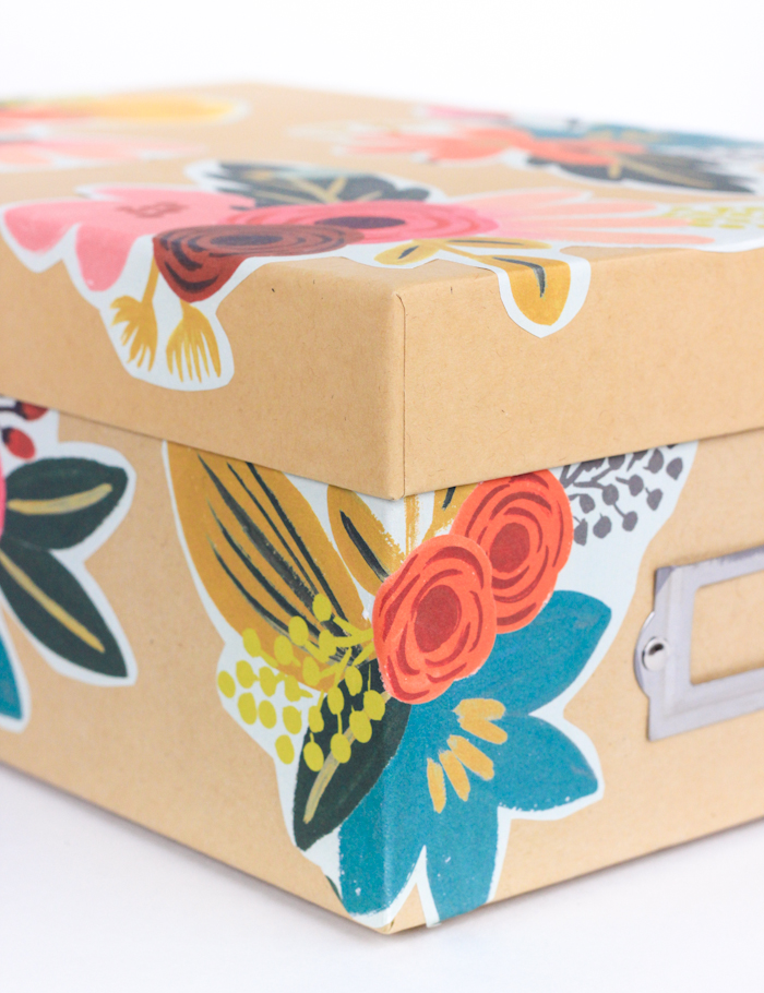 DIY Decoupage Storage Box