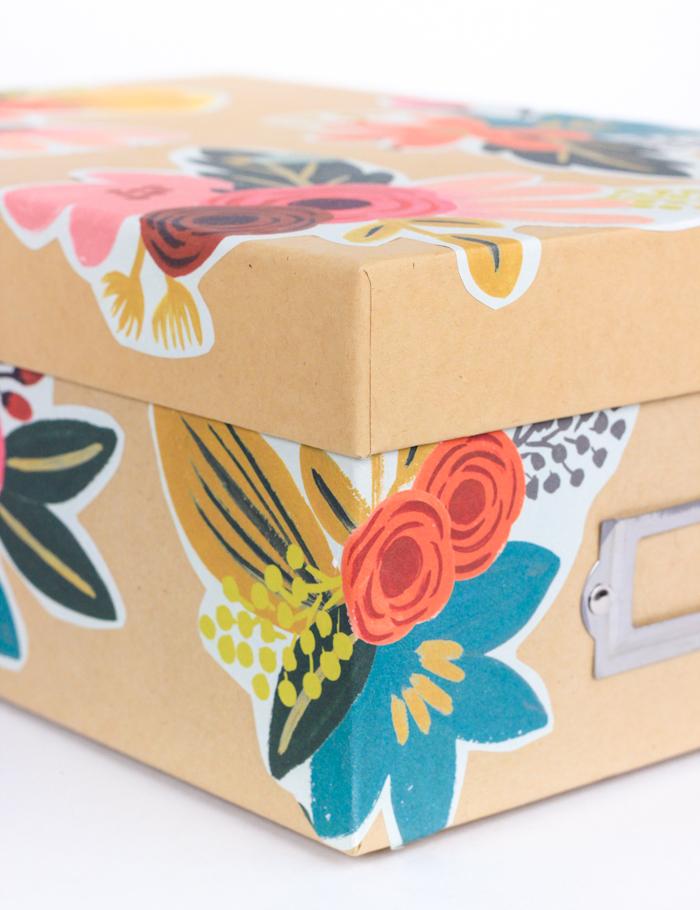 DIY Decoupage Storage Box