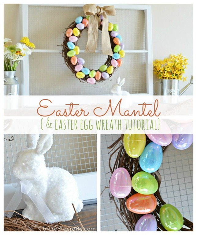Easter Spring Mantel by UCreate