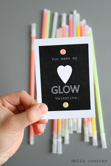 Glow in the Dark Valentine by Delia Creates