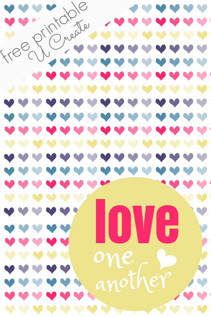 photograph about Love One Another Printable identified as Get pleasure from 1 An additional Printable - U Generate